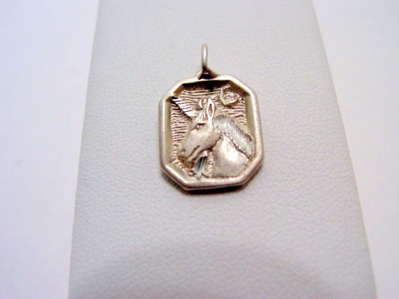 Vintage Unicorn Pendant or Charm Sterling silver Vintage Jewelry Jewellery 925