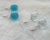 Glass Marble Earrings, Long Dangley Earrings