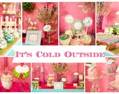 CHRISTMAS Party Decorations - It's Cold Outside Holiday Christmas PRINTABLE Party Package - By A Blissful Nest
