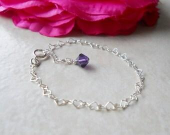Baby Girl Child Boutique Sterling Heart Bracelet B015