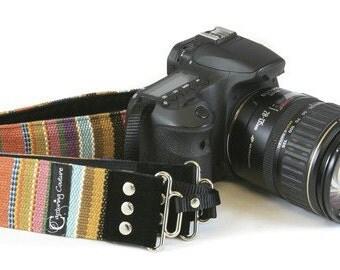 Calico Stripe Bohemian SLR Camera Strap