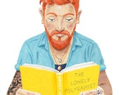 Large A3 Fine art print - The Lonely Hipster