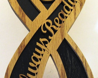 Always ready firefighter ribbon scroll saw cut--21P