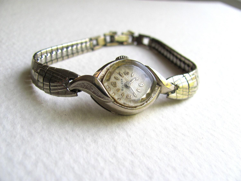 antique womens bulova bracelet 10k rolled gold plate