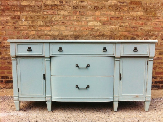 Vintage Buffet In Smokey Blue