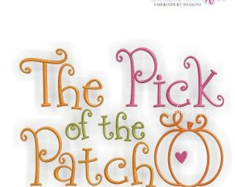 The Pick of the Patch- Instant Email Delivery Download Machine embroidery design