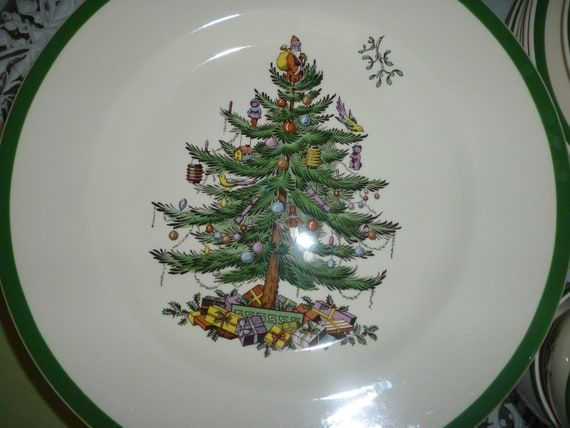 Spode Christmas Tree China Plate England SALE