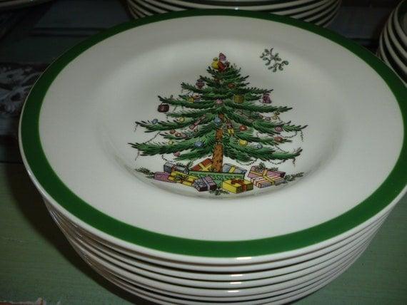 Spode Christmas Tree China Dessert/ Salad Plate England SALE