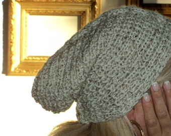 Stylish Wool Beige Hat For Cold Days