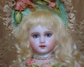 E J Dollin  French Bebe Milette size Reproduction porcelain doll by Emily Hart