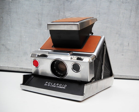 Vintage Polaroid SX-70 Land Camera with Leather Carrying Case Tested WORKS