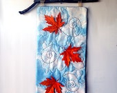 RESERVED for TORI Fall Quilted Orange Leaf Maple Leaves Home Decor