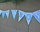 It's a Boy Banner, New Baby, Baptism, Baby Revealing Party, Photo prop, Maternity, Ready to ship
