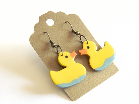 SWIMMING DUCKS earrings