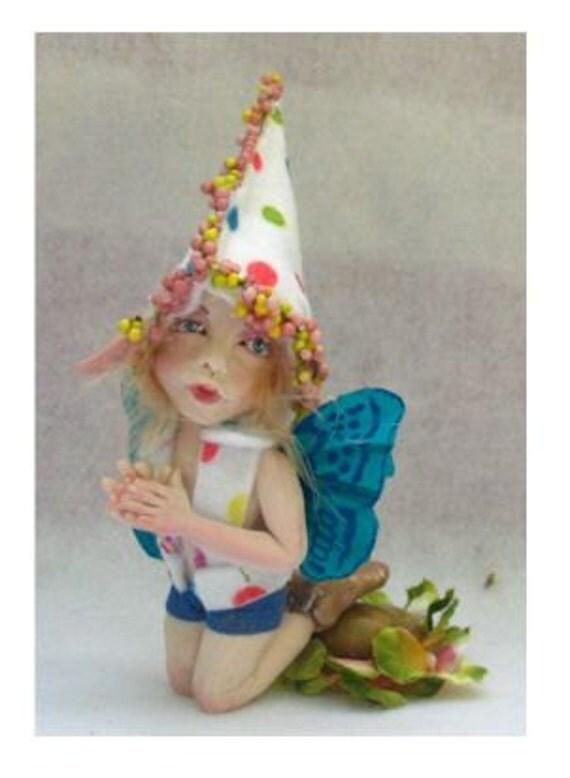 Olli OOAK Woodland Fairy Boy Fairies Art Doll Sculpture Figurine Fantasy