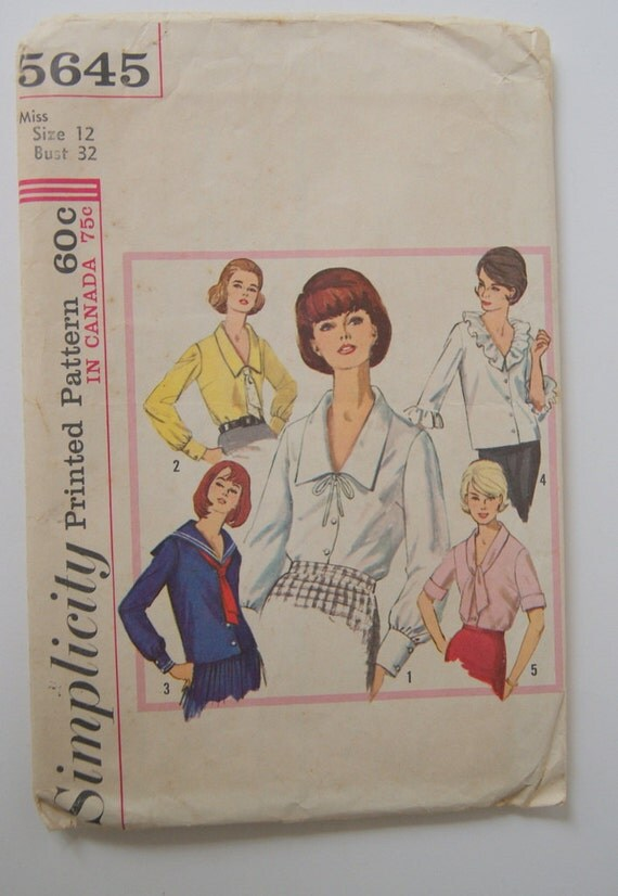 Vintage Sailot Top Pattern by Simplicty