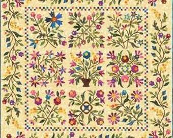 Spring Bouquet Baltimore Album Floral Applique Laundry Basket Quilt Pattern