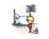 Bedtime for Small Boy Joan Walsh Anglund Framed Print 1968
