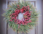 Christmas Wreath - Red Berry Christmas Holiday Wreath
