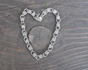 Vintage Sterling Sliver Heart Bracelet