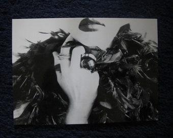 B&W fashion Artwork postcard