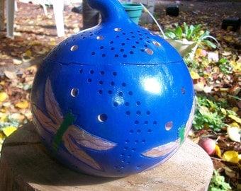 Carved Gourd Potpourri Holder
