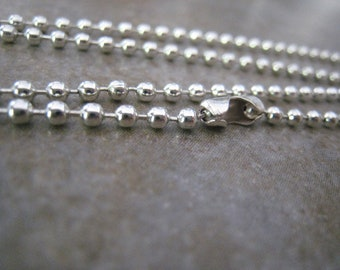 """16"""", 17"""" or 18"""" 2.4 mm Silver Plated Ball Chain"""