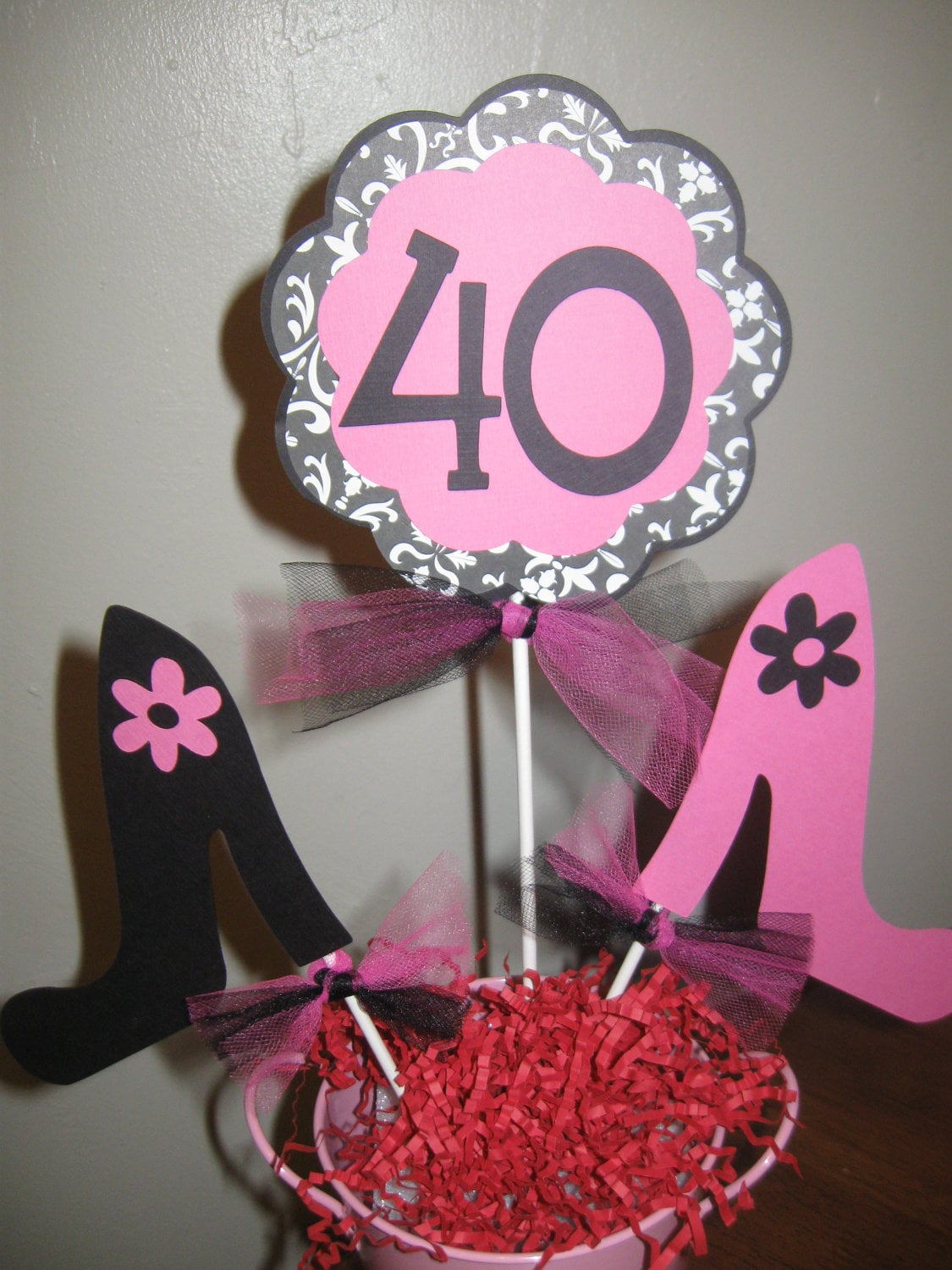 40th birthday decorations centerpiece high by welcometomystore for 40th birthday decoration