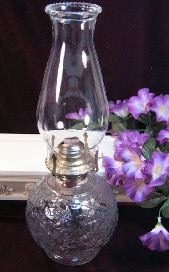 Vintage Princess House Fantasia Crystal Oil Lamp 1960s Mid