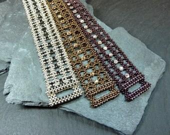 RAWmantic Lace (beaded bracelet)/ PDF file