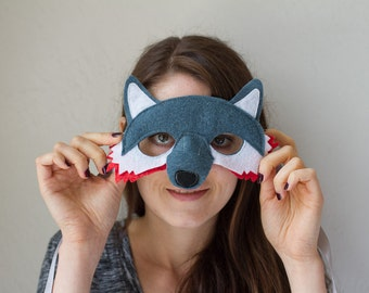 Fox Mask--blue and pink