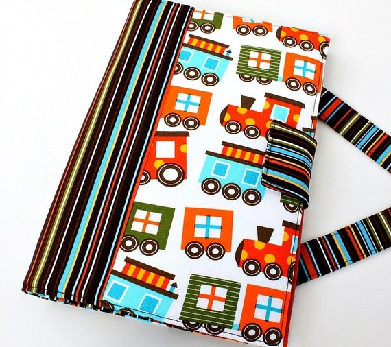 Busy bag - crayon holder - Trains