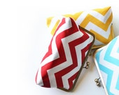Chevron Handmade Clutches for Bridesmaids Gift Ideas Wedding Personalized Bags