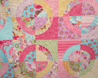 Coquette Circles Lap Quilt