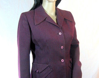 1940's WOOL SUIT Jacket and Skirt Size Medium