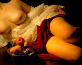 Female artistic nude baroque renassaince inspired photo print - Caravaggio Inspired - 09