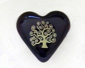 Tree of Life Purple Heart Pocket Keepsake Remembrance Token Momento