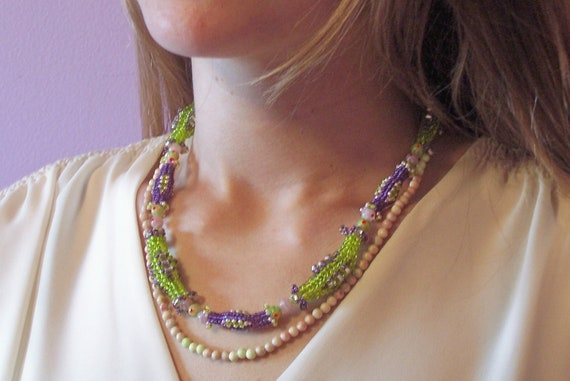 Fiesta Necklace, Beading Tutorial in PDF