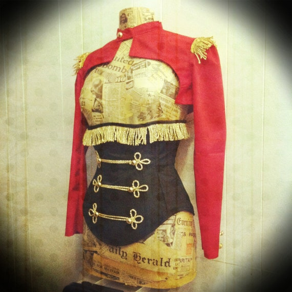 Ring masters burlesque steel boned under bust corset your size