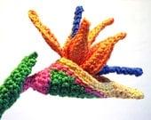 Bird of Paradise Crochet Flower Pattern - MELI BONDRE