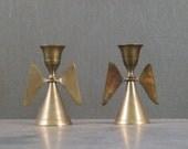 Solid Brass Angel Candlesticks