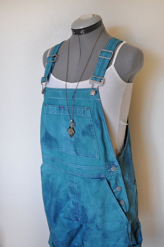 Jean Overall Shorts Womens