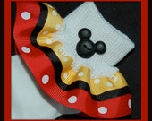 Mickey Mouse-Inspired TRIPLE Ruffle Socks...Perfect for your Disney Vacation-Hair Bow Sold On a Separate Listing