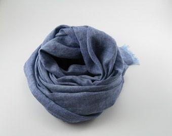 Handmade Linen Scarf --- Two Tone