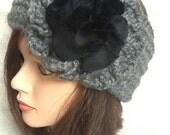 Charcoal Gray Chunky Headband