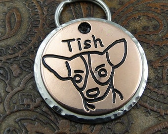 Chihuahua Custom ID Dog Tag - Personalized Dog Collar ID Tag - Pet ID Tag for Dogs