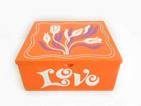 Pride Creations Orange LOVE Jewelry Storage Box