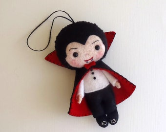 Halloween Ornament - Dracula pdf Pattern - Instant Download