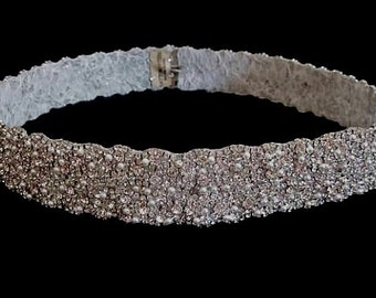 Eliza Bridal wedding dress gown crystal sash embellished belt
