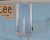 VINTage 70s lees pastel blue with sewn seam, bell bottoms